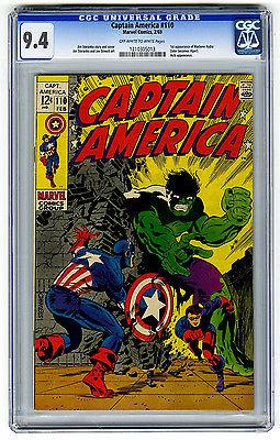 Captain America #110 CGC 9.4 Hulk App Steranko Marvel Silver Age Comic Avengers