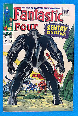 Fantastic Four 64 (July 1967) First app Kree- Key Issue- Sentry Sinister  VG