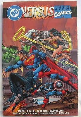 DC Comics Versus Marvel Comics Graphic Novel 1996  First Print