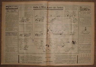 COEURS VAILLANTS 1932 N°03 TINTIN ET MILOU AU PAYS DES SOVIETS