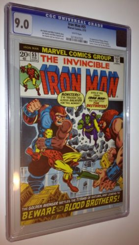 IRON MAN #55 CGC 9.0 White Pages 1st Thanos, Avengers Movie