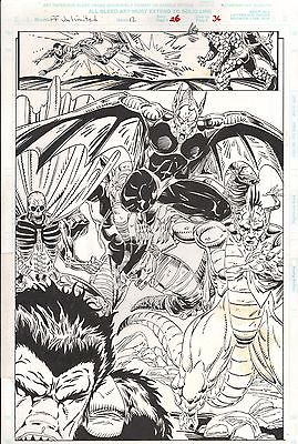 FANTASTIC FOUR UNLIMITED #12 PAGE 36 SPLASH COMIC ORIGINAL ART HERB TRIMPE
