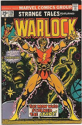 STRANGE TALES FEATURING WARLOCK # 178 MARVEL COMICS FEB 1975