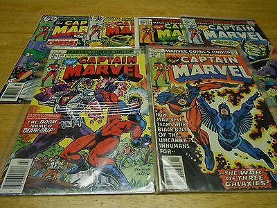 Captain Marvel 53,55-57,60-61 1978  fn+  vfn