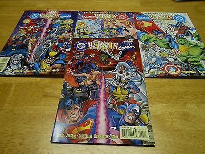 DC Versus Marvel Comics 1-4 vfn++  nm