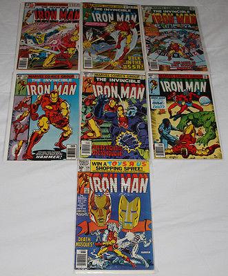 MARVEL IRON MAN COMIC LOT - #117, 119, 123, 126, 129, 133, 139 - 7 GREAT BOOKS