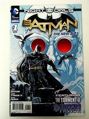 "New 52 Batman Annual #1 ""Night of the Owls"" NM- Beautiful Comic"