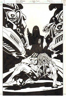 Superman #194 Cover - Superman, Hope, & Talia al Ghul - 2003 by Scott McDaniel