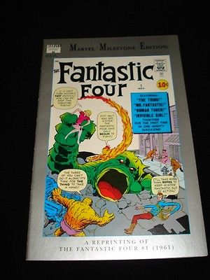 MARVEL MILESTONE EDITION FANTASTIC FOUR #1 NEAR MINT CONDITION PRINTED IN 1991