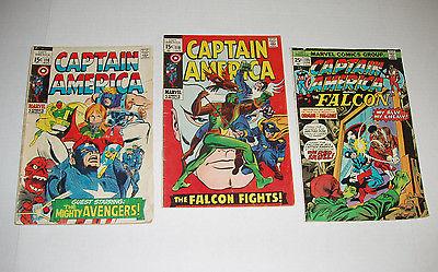 CAPTAIN AMERICA 116, 118, 186  Gene Colan 1960s-70s - 3 comic lot