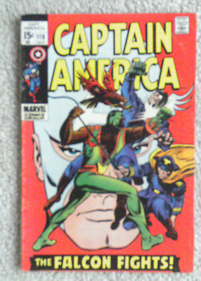 CAPTAIN AMERICA # 118 (1969)  2nd appearance of THE FALCON