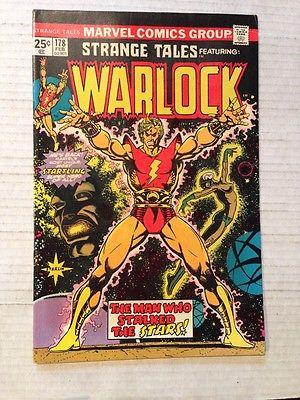 STRANGE TALES #178 February 1975 Warlock Vintage Marvel Comics
