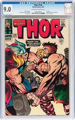Thor #126 CGC 9.0 1966 1st Issue Avengers Iron Man Hulk Movie C12 112 cm