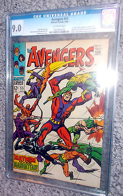 Here it is AVENGERS 55 CGC comic 9.0 OWP Quick jump on it  it's Ultron's debut