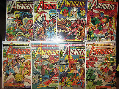 Avengers LOT OF 8 133 132 131 130 129 128 127 126 Captain America Thor Iron Man