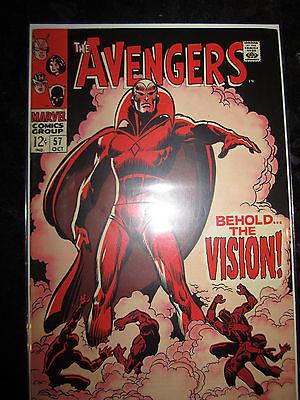 Avengers #57 Vision Captain America Thor Iron Man Hulk 1st Marvel