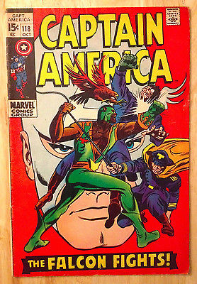 Captain America #118 -  Second Appearance of The Falcon (1969)