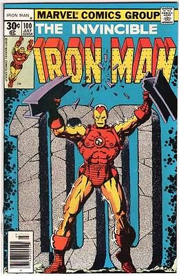 IRON MAN 100 NM- 9.2 HIGH GRADE JIM STARLIN MARVEL BRONZE AGE 1977 NR