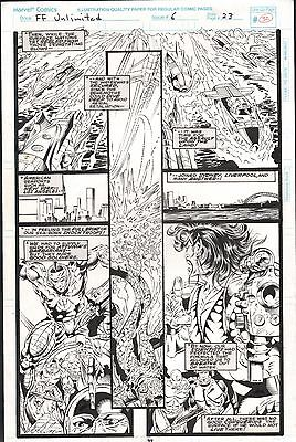 FANTASTIC FOUR UNLIMITED #6 PAGES 32 & 34 COMIC ORIGINAL ART HERB TRIMPE
