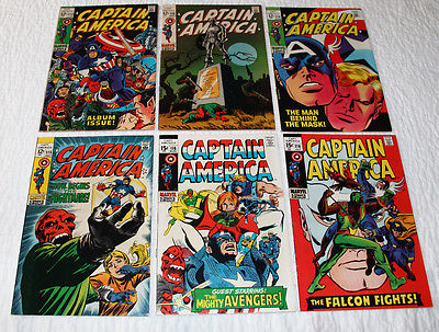CAPTAIN AMERICA #112, 113, 114, 115, 116, 118  MARVEL SILVER AGE COMIC LOT*