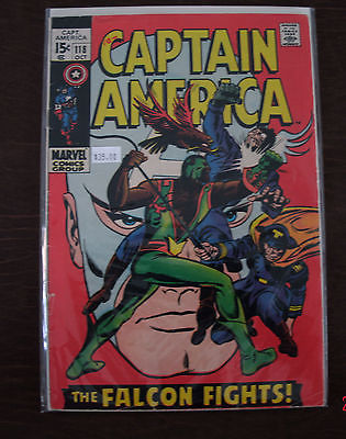 Marvel Comics Captain America #118 2nd Appearance of The Falcon
