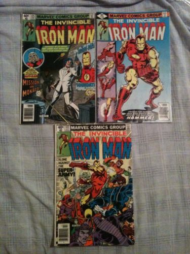 The Invincible Iron Man 125 126 127 FN Fine Condition Comic Book Lot (1979)