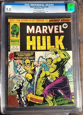 Mighty World of Marvel 198 CGC 9.0 UK Hulk 181 1st app of Wolverine