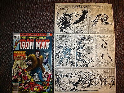 ORIGINAL COMIC BOOK ART IRON MAN VOL. 1 # 101 PAGE 30 1977 GEORGE TUSKA W/COMIC