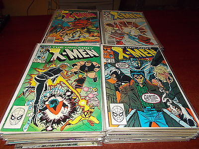 Lot of 110 Different Uncanny X-men #116-300 Comic Book #205 213 221 244 + KEYS