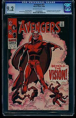 Avengers #57 CGC NM- 9.2  Marvel Comics Thor Captain America