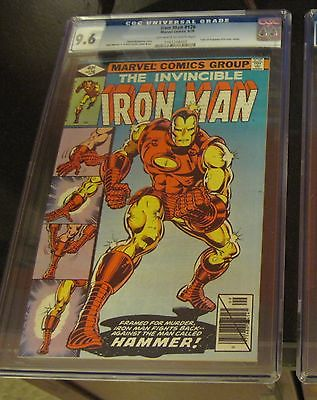 Classic Cover1st Print 1979 IRON MAN 126 NM+ CGC 9.6 Graded Demon in a Bottle