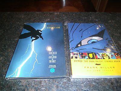 Batman The Dark Knight Returns Hardcover 1ST PRINT & DK STRIKES AGAIN TPB NR
