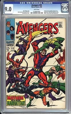 AVENGERS #55 CGC 9.0   WHITE PAGES  1ST FULL APPEARANCE OF ULTRON