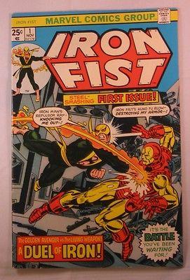 IRON FIST 1 Marvel 1975 Iron Man Luke Cage Avengers Spider-Man Key Issue