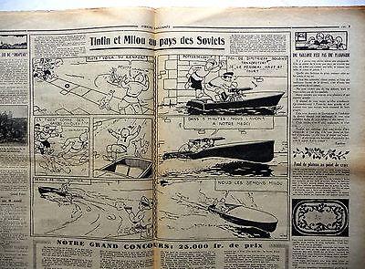 périodique COEURS VAILLANTS N° 16  de 1931 BE  TINTIN au pays des soviets HERGE