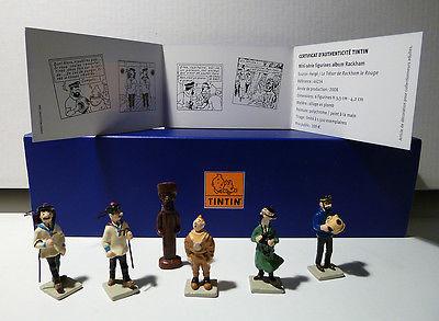 TINTIN   PIXI  MINI SERIE  RACKHAM LE ROUGE  6 Figurines réf. 43264