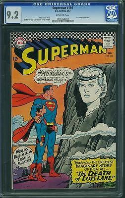 Superman #194 CGC 9.2 OW