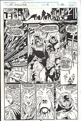 FANTASTIC FOUR UNLIMITED #6 PAGES 40, 56 & 58 COMIC ORIGINAL ART HERB TRIMPE