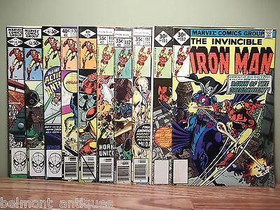 Lot of 10 Comic Books - Iron Man #102,103,107,112,113,129,137,151,153,155 Bronze