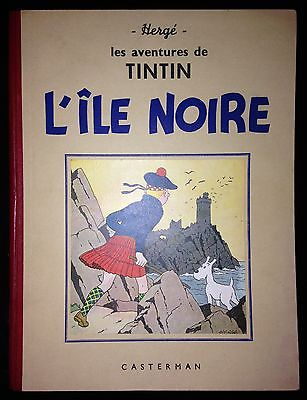 Herge Tintin L'Ile Noire A17bis Edition N&B de 1941 Tout Proche de l'Etat NEUF.