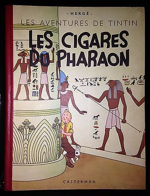 Herge Tintin Les Cigares du Pharaon A18 Grande Image Inédite 1942 Proche NEUF.