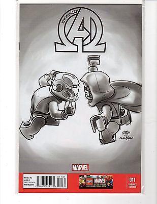 New Avengers #11 Castellani 1:100 Iron Man vs Dr Doom Lego Sketch Variant  VF