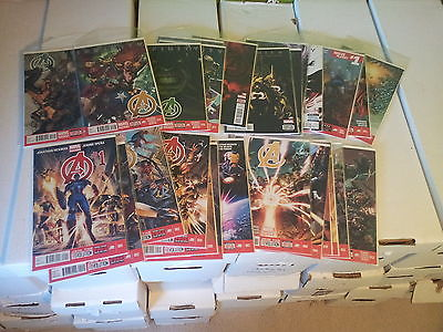 Avengers #1-25 New Avengers #1-12 Avengers World #1-4 unread Hickman