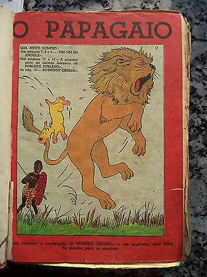 60 numéros PAPAGAIO - avec 6 couvertures avec Tintin - TINTIN EM ANGOLA RARE