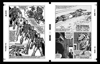 John Romita Jr. Iron Man #122 Pg 1 And Pg 2 Rare Large Production Art