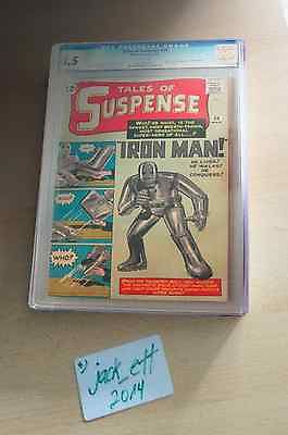 Tales of Suspense #39 IRON MAN - Marvel Comics 1963 - White Pages - CGC 8.5