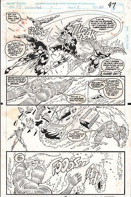 FANTASTIC FOUR UNLIMITED #5 PAGES 47 & 48 COMIC ORIGINAL ART HERB TRIMPE