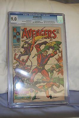 Avengers #55 CGC 9.0  1st App Ultron