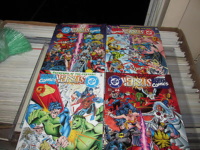 DC Versus Marvel / Marvel Versus DC # 1 - 4  (Feb 1996, DC) Full Set Comic books