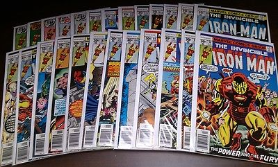 Invincible Iron Man 96 - 120 Lot of 25 Comics -- FN- to VF/NM; Est. Retail $245+